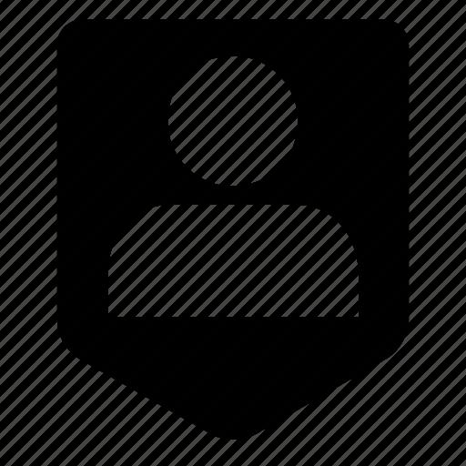 badge, honor, person, shield, user icon