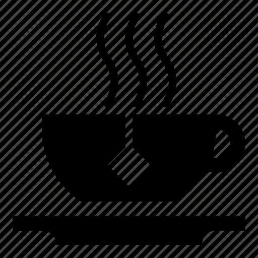 beverage, cup, drink, hot, mug, saucer, steam, tea, vessel icon