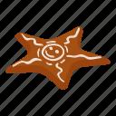 bread, cake, gingerbread, isometric, logo, object, star