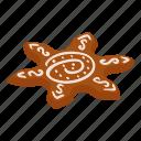 bread, cake, flower, gingerbread, isometric, logo, object