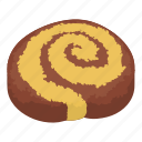 biscuit, bread, cheesecake, cupcake, isometric, logo, object
