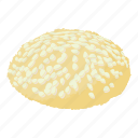 biscuit, cheesecake, isometric, jam, logo, object, tasty