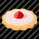 biscuit, capcake, cheesecake, isometric, jam, logo, object