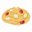 berry, biscuit, cheesecake, isometric, jam, logo, object