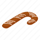 bread, cake, gingerbread, isometric, logo, object, stick