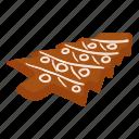 bread, cake, celebration, gingerbread, isometric, logo, object