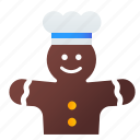 christmas, cookie, gingerbread, man