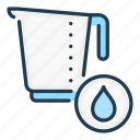 jug, measure, water, measurement icon