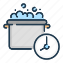 boil, boiling, clock, cook, cooking, food, time icon