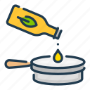 olive, cooking, food, oin, pan, fry, frying icon