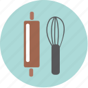 bekery, cake, coffee, cook, cup, restaurant, rolling pin icon