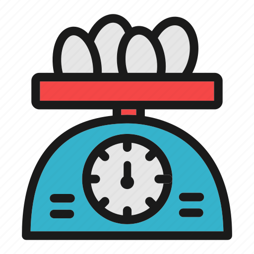 bakery, baking, cooking, egg, scale, weight icon