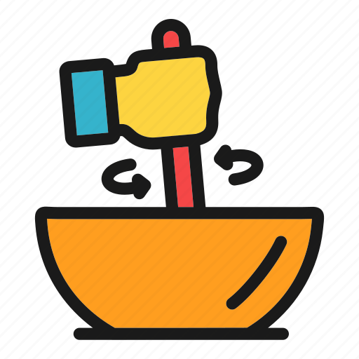 cook, cooking, food, hand, kitchen, mixing icon