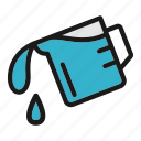 cook, cooking, kitchen, pour, water icon