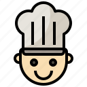 baker, bakery, chef, food, jobs, professions, restaurant icon
