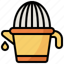 citrus, cooking, food, juicer, kitchenware, restaurant, squeezer icon