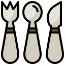 camping, cutlery, food, metal, restaurant, tools, utensils icon