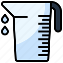 cup, food, measurement, measuring, miscellaneous, restaurant, volumetric icon