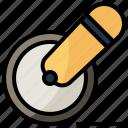 cutter, food, kitchenware, pizza, restaurant, tools, utensils icon