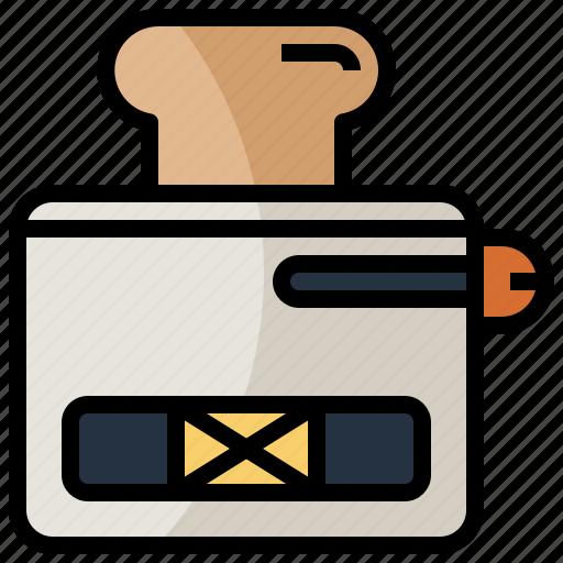 bakery, food, kitchenware, restaurant, toaster icon