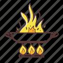 flamb, kitchen, cooking, food, pan