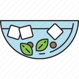 blanch, cool, food, ice, kitchen, meal icon