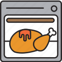 chicken, food, meal, oven, poultry, roast icon