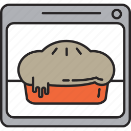 bake, baker, cake, food, kitchen, meal, oven icon