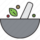 bowl, food, grind, meal, mix, spice icon