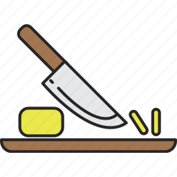 chop, food, knife, meal icon
