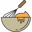 beat, bowl, food, meal, whisk icon