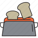 bread, breakfast, food, meal, toast, toaster icon