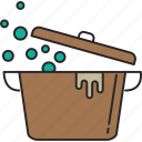 boil, cooking, food, hot, kitchen, meal, pot icon