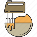 bakery, blend, food, kitchen, meal, mix, mixer icon