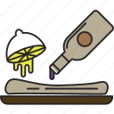food, lemon, marinade, meal, sauce icon