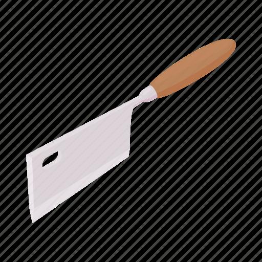 blade, butcher, cartoon, cleaver, knife, meat, steel icon