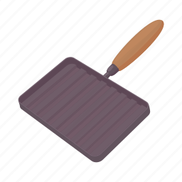 cartoon, cooking, grill, kitchenware, object, pan, utensil icon