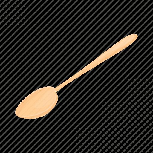 brown, cartoon, spoon, utensil, wood, wooden icon