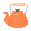 cartoon, drink, kettle, kitchen, tea, teapot, water icon