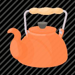 cartoon, drink, kettle, kitchen, tea, teapot, water icon