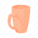 beverage, cartoon, clean, cup, drink, empty, mug icon