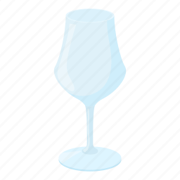 alcohol, cartoon, drink, empty, glass, transparent, wine icon