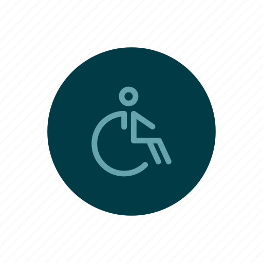 disabled, hospital, old, paraplegic, patient, wheelchair icon