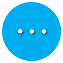 blue, cirlce, clean, mode, nice, overflow icon