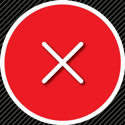 cancel, fail, remove icon