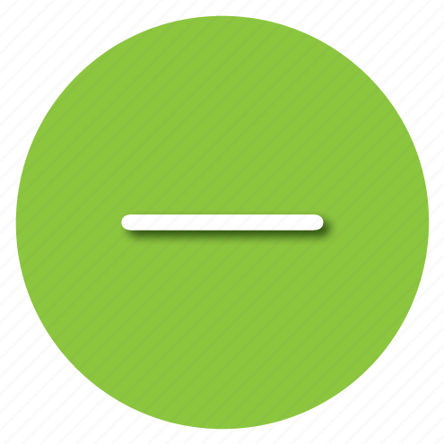 green, minus, substract icon