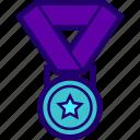 achievement, medal, participation, prize, reward icon