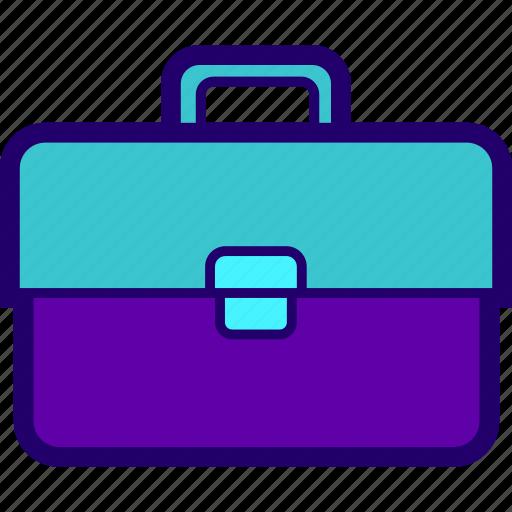 baggage, briefcase, office, paperwork, portfolio, suitcase icon