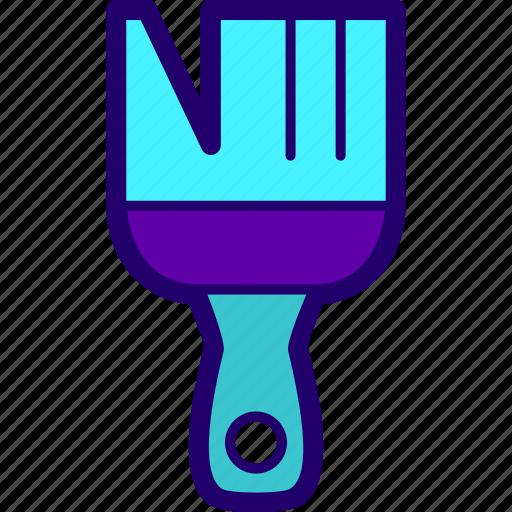 brush, brushwork, flat brush, paint, paintwork icon