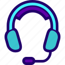 call, center, headphones, headset, mic icon